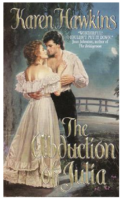 The Abduction of Julia - Old cover - mullet on him AND on her?!