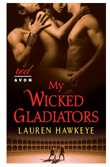 My Wicked Gladiators - naked menage cover with two guys surrounding a woman - and it really looks like they are doing it