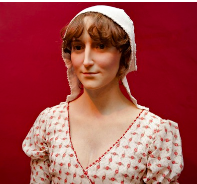 Wax statue of Jane Austen - she looks beautiful