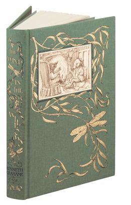 Beatrix Potter bound edition, cloth binding pen and ink illustration at the top.