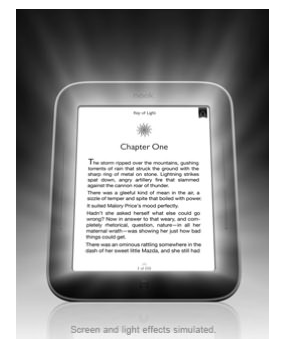 nook simple touch with glow light screen