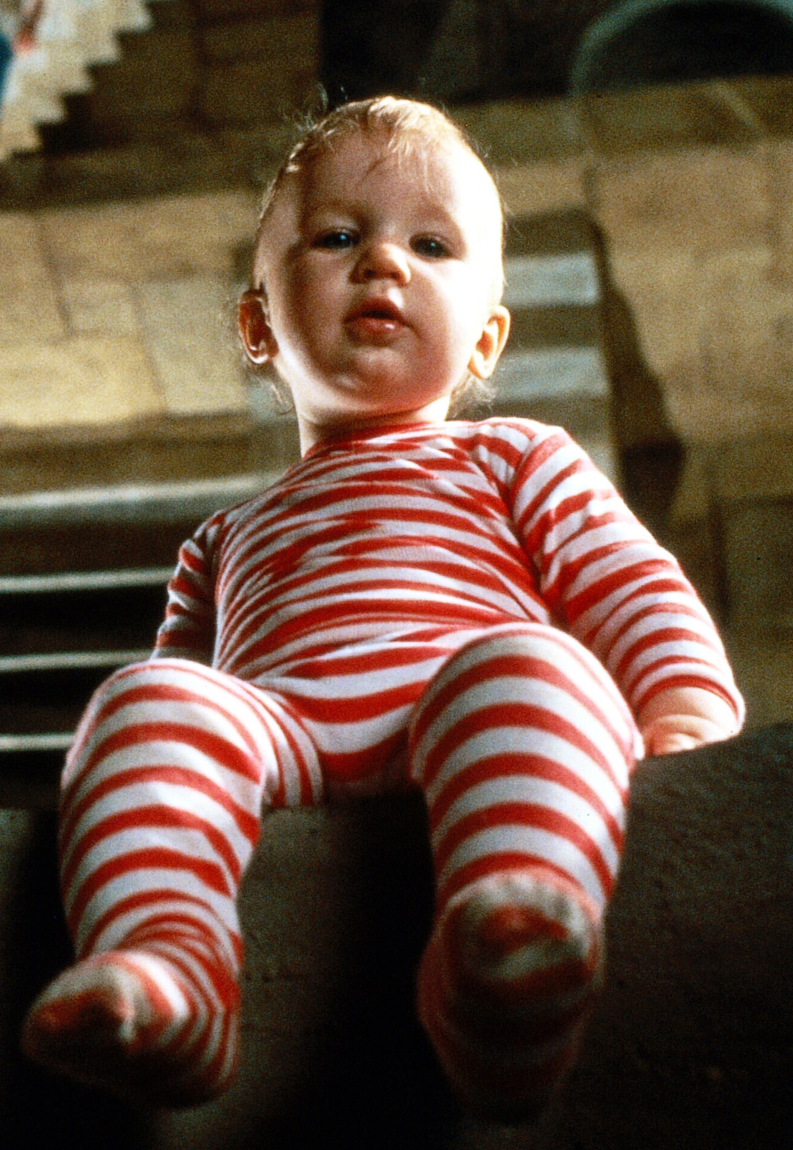 Toby from Labyrinth - a baby in red striped pajamas