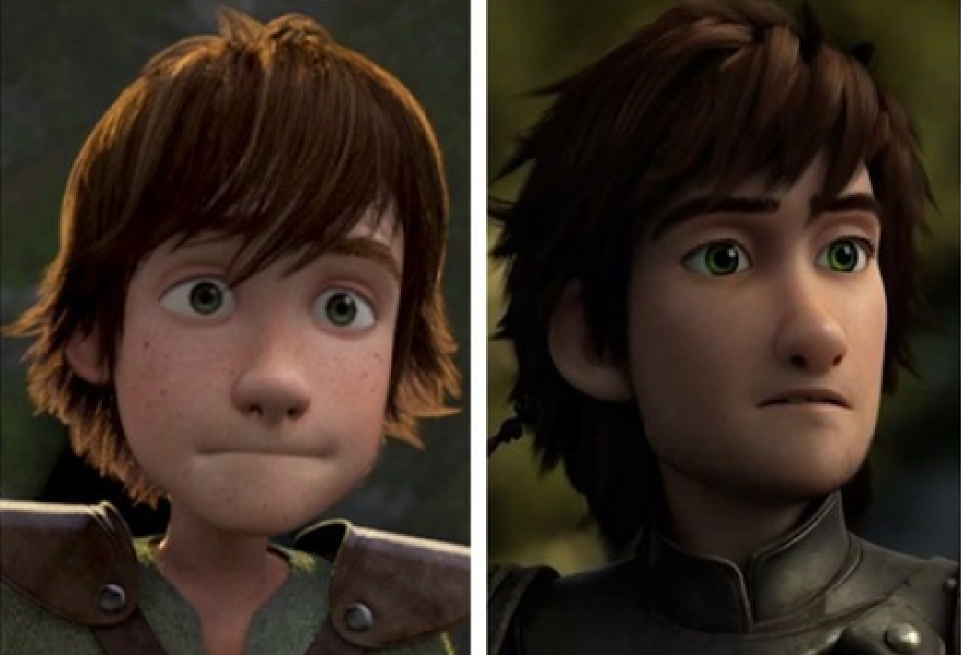 Young Hiccup, With Mop Of Hair, Awkward Body And Big Eyes Alongside 20 Year