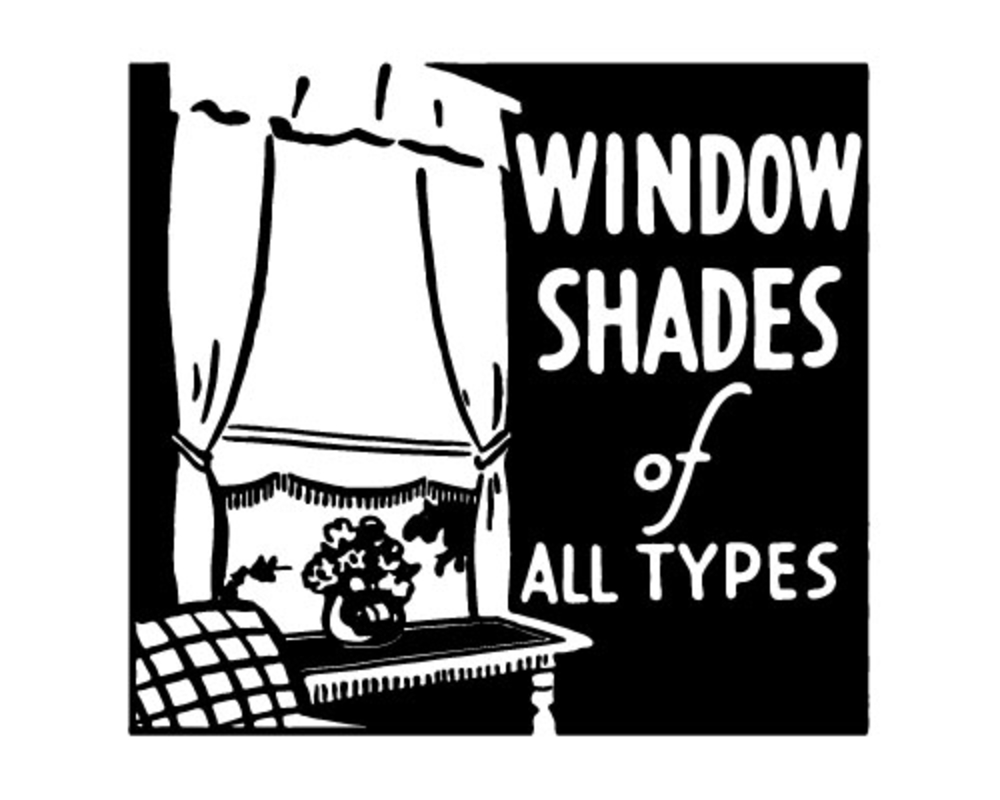 A retro ad that says 'Vintage Shades of All Types'