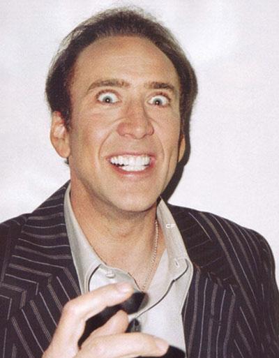 Creepy Nicholas Cage Stare