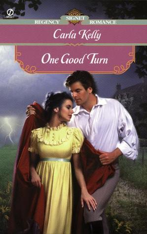 One Good Turn - Original Cover - he's giving her his cloak as a thunderstorm breaks in the distance