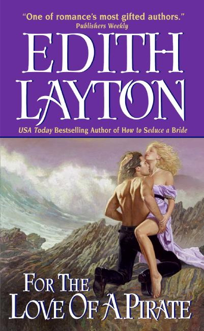 Edith Layton - For the Love of a Pirate - her hair blows one way, his another, and the ocean is about to smash them into some rocks
