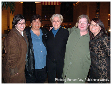 One of Kate's dinner parties: me, Mary Stella, Karen Auerbach, Kate Duffy, and Beth Ciotta
