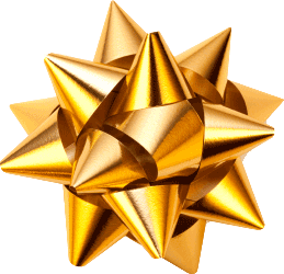 A Gold gift ribbon