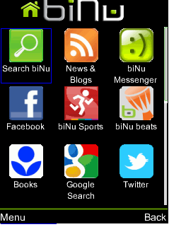 Screenshot of BiNu app os
