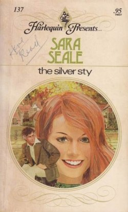 The Silver Sty - a redhead with an older gentleman illustrated in the corner near her chin