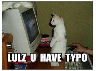 U Has a Typo