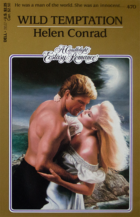 Wild Temptation Helen Conrad Blondes embracing on a windy hillside and of course he is not wearing a shirt he will probably catch a cold